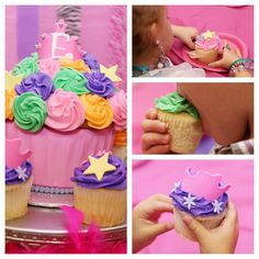 Fancy Nancy party #cupcakes #photography Takethepartyoutside.com