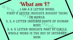 English Word Riddles with Answers Word Brain Teasers, Brain Teasers With Answers, Brain Teasers For Kids, Riddles With Answers, Word Riddles, What Am I Riddles, Funny Riddles, Word Puzzles, 6 Letter Words
