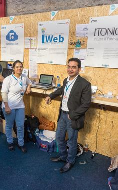 Versha And Akshay Shah Promoting Their Company IWeb At The Web Summit In Dublin -  #infomatique
