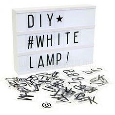 LOVELY Lightbox - Letter Lightbox A4 in White + FREE Adapter 9V