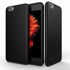 Luxury Carbon Silicone Case for iPhone 6s Cases 6 plus Full Matte Cases for iphone 7 Case Plus TPU High Quality Phone Cover P25
