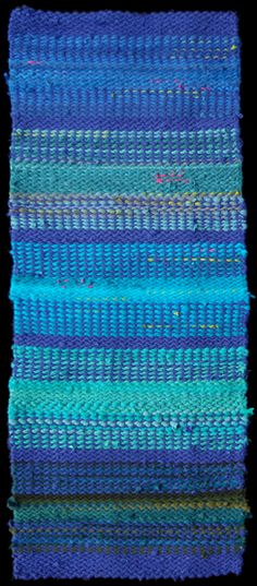 Seascape Rag Rug, woven from cotton curtains, #recycled t shirts, and other abandoned textiles.  $895.