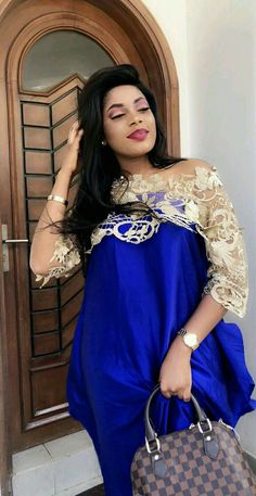 Blue and gold African Lace, African Wear, African Women, African Dress, African Inspired Fashion, African Fashion Dresses, Ankara Dress Styles, Halloween Fashion, Mode Style
