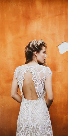15 Bohemian Wedding Dresses For Charming Brides ❤ lace open back a line with cap sleeve bohemian wedding dresses serafin castillo Full gallery: https://weddingdressesguide.com/bohemian-wedding-dresses/