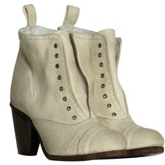 Canvas Slip Boot (1.515 ARS) ❤ liked on Polyvore featuring shoes, boots, ankle booties, women, allsaints, pull on boots, short boots, canvas ankle boots and ankle boots