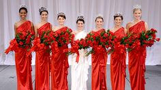 The 2013 Royal Court, with Rose Queen Vanessa Manjarrez (center) and the Rose Princesses