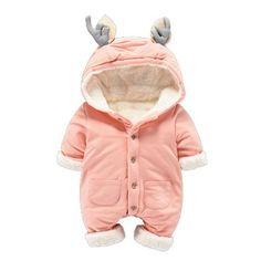 Newborn Thicken Warm Romper Boy/Girl Christmas Deer Long Sleeve Overalls Baby Winter Fleece Jumpsuit One pieces Infantil Clothes-in Rompers from Mother & Kids on Aliexpress.com | Alibaba Group