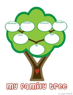 Use this Blank Family Tree with stylized leaves to gather and show details about your loved ones. Free to obtain and print Free Family Tree Templates in PDF Create A Family Tree, Family Tree For Kids, Blank Family Tree, Trees For Kids, Family Tree Art, Free Family Tree, My Family, Tree Templates, History Projects