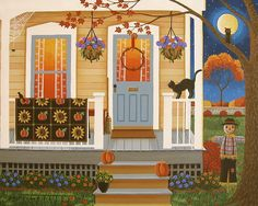 Autumn Memories Print By Mary Charles. Original Painting available at dutchlandgalleries.com