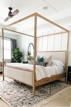 King Bedroom Sets, Master Bedroom Design, Dream Bedroom, Home Bedroom, Bedroom Ideas, Master Bedrooms, Wood Canopy Bed, Canopy Bed Frame, Canopy Beds
