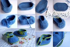 crochet baby bootties and sandals, crochet pattern and photo tutorials | make handmade, crochet, craft