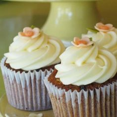 Carrot Cupcake: A little cupcake chock-full of carrots, walnuts, & currants, topped with a creamy, tangy cream cheese frosting.