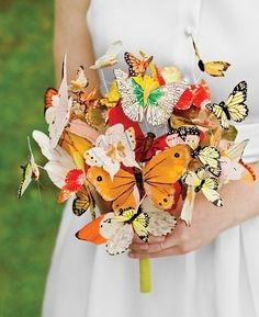 Butterfly Bouquet   20 Cute And Quirky Wedding Bouquet Ideas I love every one of these!