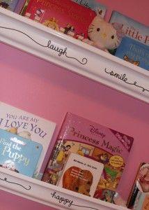 Raingutter bookshelves with flare!