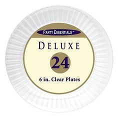 Party Essentials Deluxe Plastic Plates 6  Select Color (288 ct.)  sc 1 st  Pinterest & Memberu0027s Mark Clear Plastic Plates 6.25
