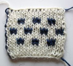 """Double Knitting-This method allows both sides of a piece to be the """"right"""" side."""