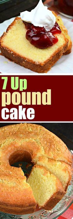Classic, old fashioned, 7 Up Pound Cake recipe #cake #poundcake #dessert #southernfood #cakerecipe #poundcakerecipes
