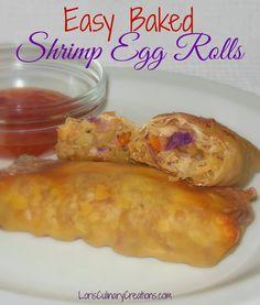 Baked Shrimp Egg Rolls