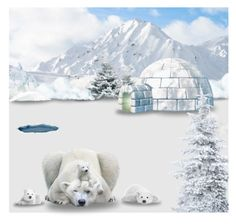 """Polar bears"" by asia-12 ❤ liked on Polyvore featuring art"
