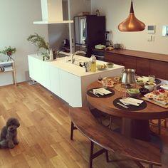 ダイニング/ダイニングテーブル/ベンチ/観葉植物/椅子/アイラインドキッチン…などのインテリア実例 - 2016-09-12 11:58:20   RoomClip(ルームクリップ)