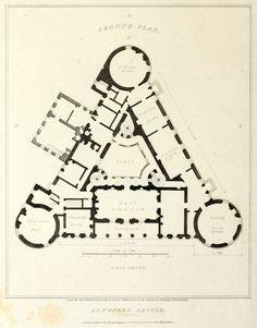 Plan of Longford Castle, Wiltshire
