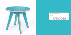 Hue Side Table by @deadgoodltd, made with  Formica® Laminate in Caribbean.