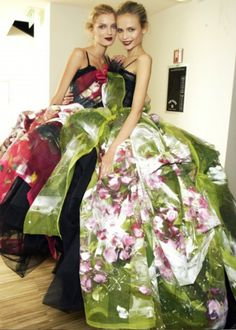 Lily Donaldson and Natasha Poly backstage at Dolce & Gabbana