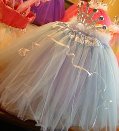 Pull a tutu over a balloon and put a tiara on top for a great decorating prop!