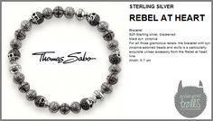 Thomas Sabo - Fall 2012 - Rebel at Heart - Pavé Skull Bracelet