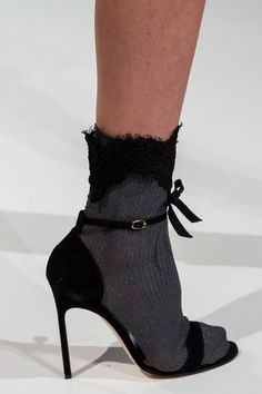 Shoes - Black Sock with Stiletto Heel, Reem Acra SS17
