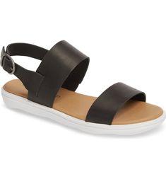 $47.37. LUCKY BRAND Sandal Madgey Sandal #luckybrand #sandal #shoes Dress Sandals, Strap Sandals, Striped Bikini, Missoni, Minimalist Fashion, Leather Sandals, Lucky Brand, Ankle Strap, Black Leather