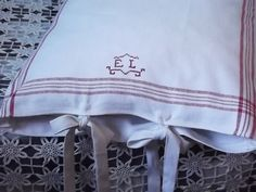 Two White Linen Pillow Cases with Handmade Vintage by LinenFactory