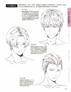 male hair reference anime hair in 2018