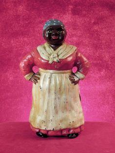 Hubley Maid Red Dress White Apron Blue Polka- Dotted Bandana