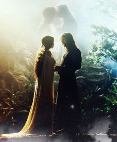 Then for a season they wandered together in the glades of Lothlórien, until it was time for him to depart. And on the evening of Midsummer ...
