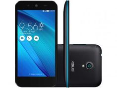 "Smartphone Asus Live 16GB Preto Dual Chip 3G - Câm. 8MP Tela 5"" HD Proc. Quad Core Android 5.0"