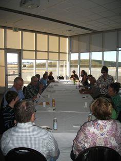 Continental breakfast in the Flightline Room at Future of Flight (photo by Steve Wilkes)