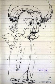 LUIS DESENHA: Cabeçudos e Gigantoões. Cabeçudo 2, o dos Cornos