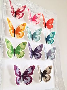 Some great colour combinations using the Watercolor Wings photopolymer stamp set.