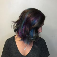 My new oil slick/mermaid hair! - Album on Imgur