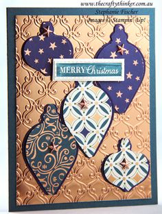 , Brightly Gleaming, Christmas card, Stylish Scroll embossing folder, Stampin' Up Homemade Christmas Cards, Christmas Cards To Make, Xmas Cards, Handmade Christmas, Holiday Cards, Merry Christmas, Stampin Up Christmas, Christmas 2019, Christmas Ornaments