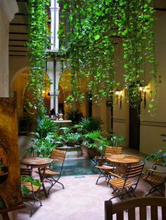 Paredes casa on pinterest colores paredes interiors and - Patios interiores decoracion ...