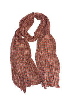 Missoni- Pink Brown & Red Striped Scarf   Current Boutique