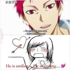 Les tags les plus populaires pour cette image incluent : anime, memes, red hair, kuroko no basuke et akashi seijuro