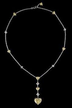 Leviev heart shaped diamond necklace