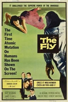 Directed by Kurt Neumann.  With David Hedison, Patricia Owens, Vincent Price, Herbert Marshall. A scientist has a horrific accident when he tries to use his newly invented teleportation device.