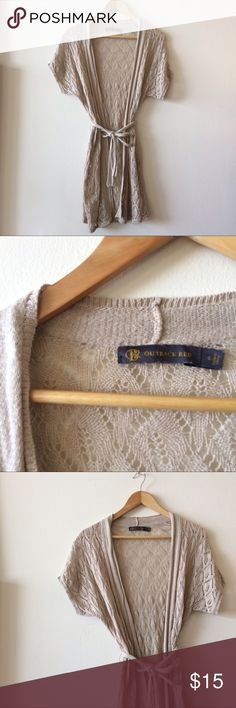 Knit Duster Tan Knit Duster in good used condition Tops