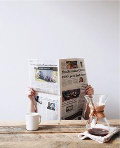 newspaper breakfast
