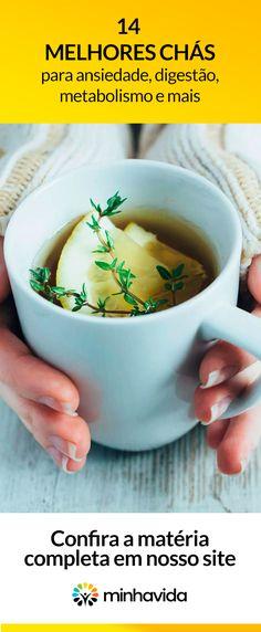 14 melhores chás para digestão, ansiedade, acelerar o metabolismo e mais. Compare esses chás e escolha qual é melhor para sua saúde.