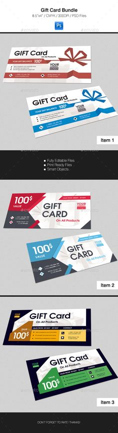 Gift Card #design Download: http://graphicriver.net/item/gift-card-bundle/16391573